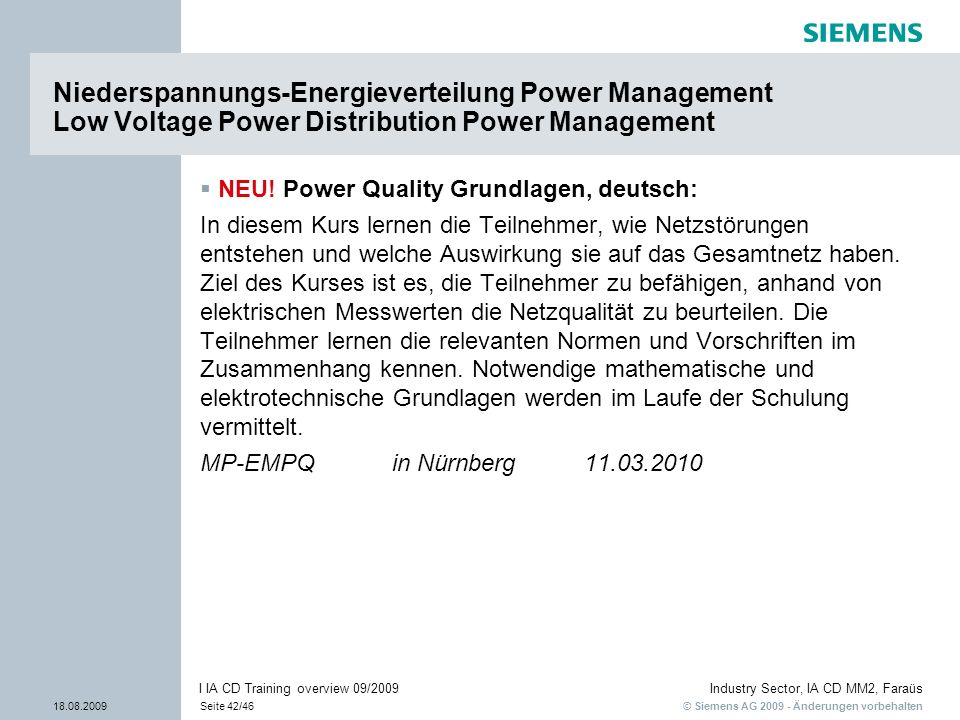 Niederspannungs-Energieverteilung Power Management Low Voltage Power Distribution Power Management