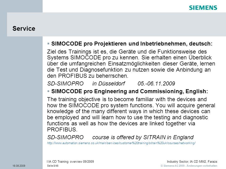 Service SIMOCODE pro Projektieren und Inbetriebnehmen, deutsch: