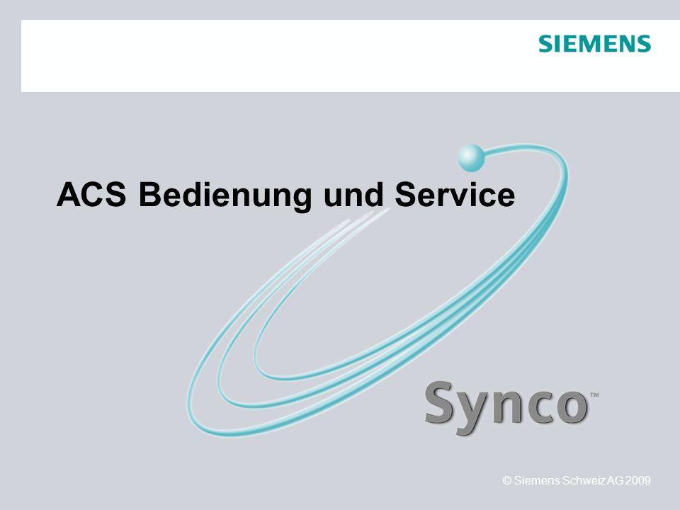 ACS Bedienung und Service