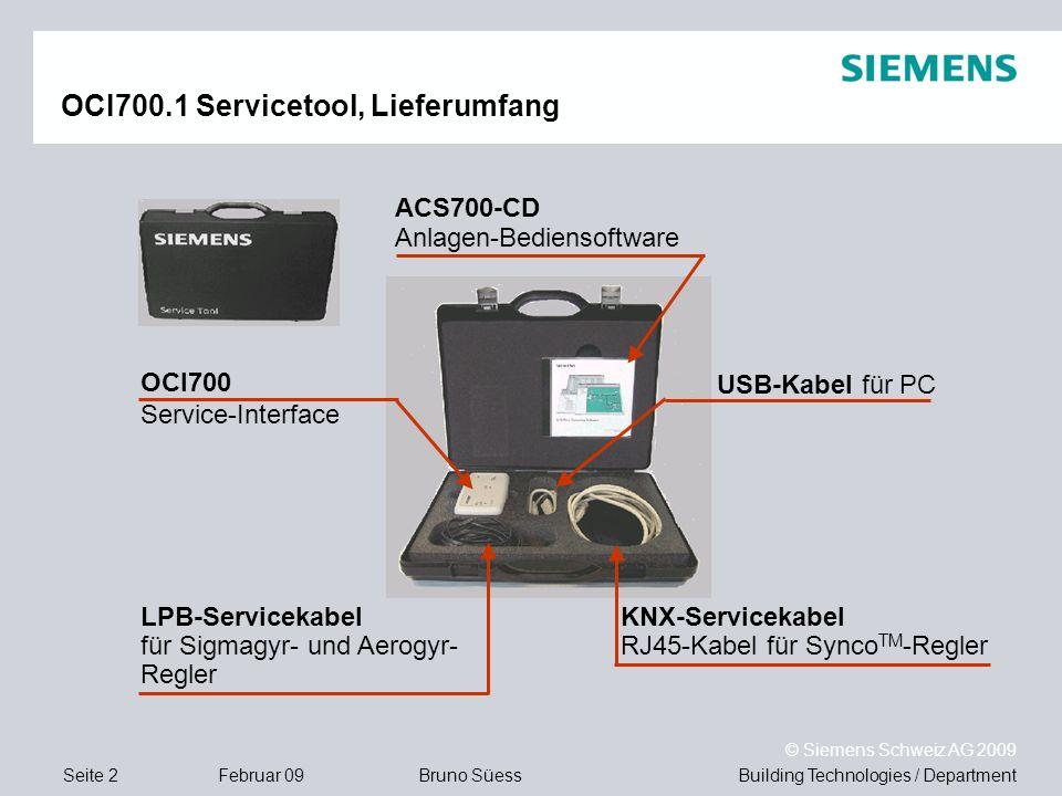 OCI700.1 Servicetool, Lieferumfang