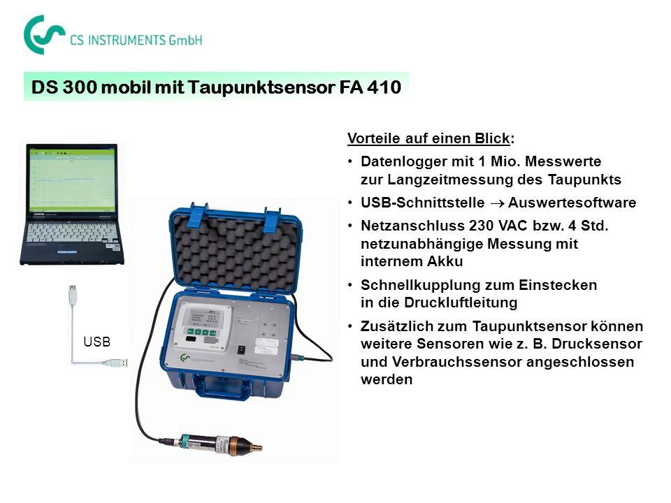 DS 300 mobil mit Taupunktsensor FA 410