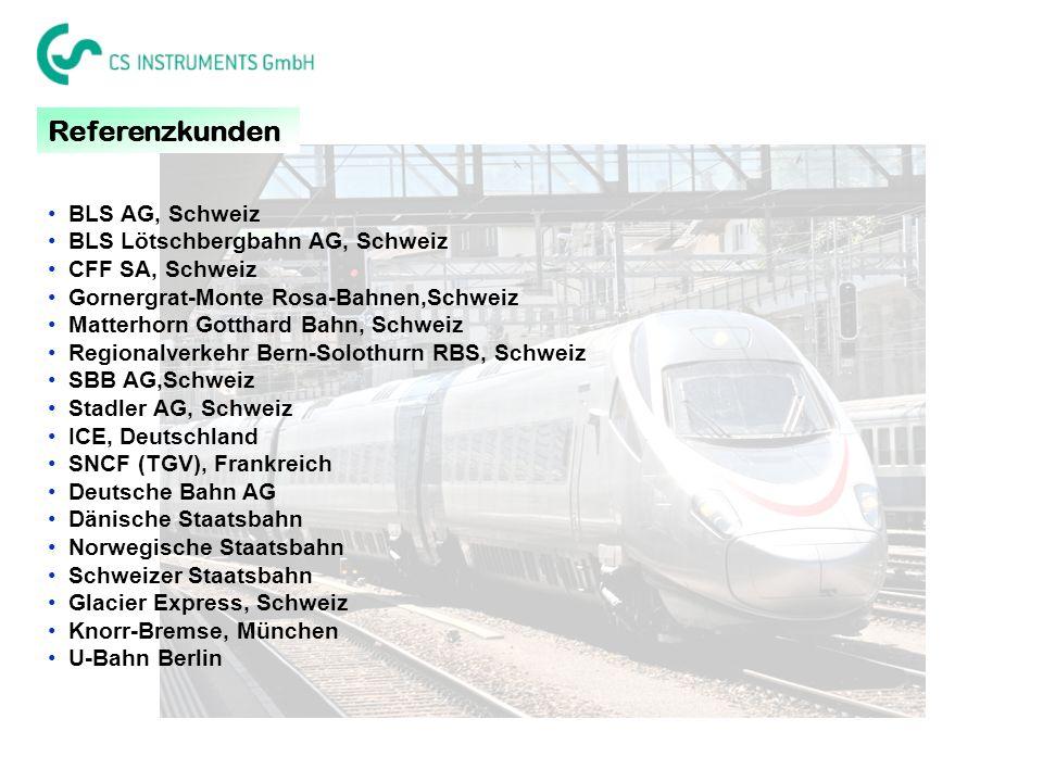 Referenzkunden BLS AG, Schweiz BLS Lötschbergbahn AG, Schweiz
