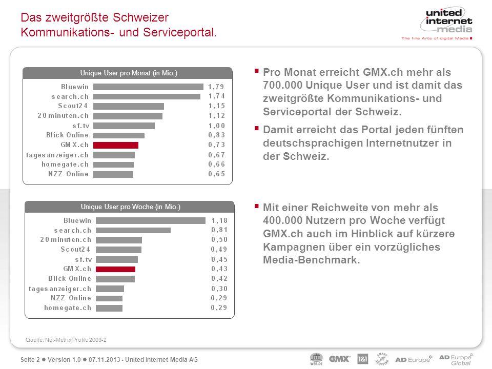 Das zweitgrößte Schweizer Kommunikations- und Serviceportal.