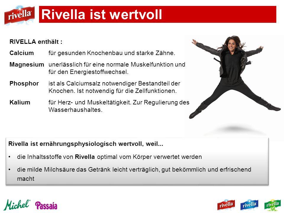 Rivella ist wertvoll RIVELLA enthält :