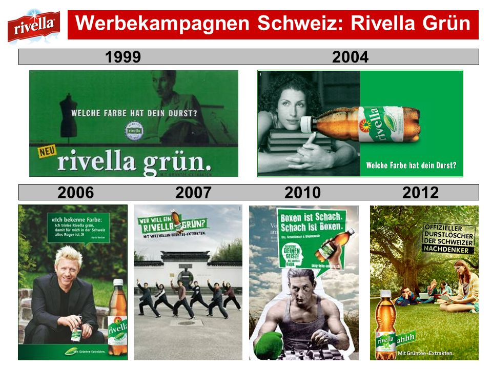 Werbekampagnen Schweiz: Rivella Grün