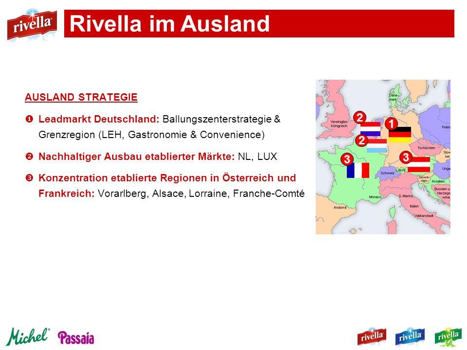Rivella im Ausland 2 1 3 AUSLAND STRATEGIE