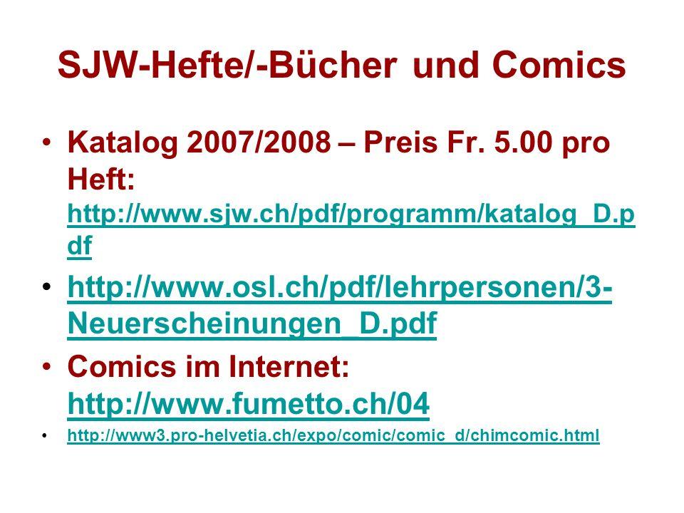 SJW-Hefte/-Bücher und Comics