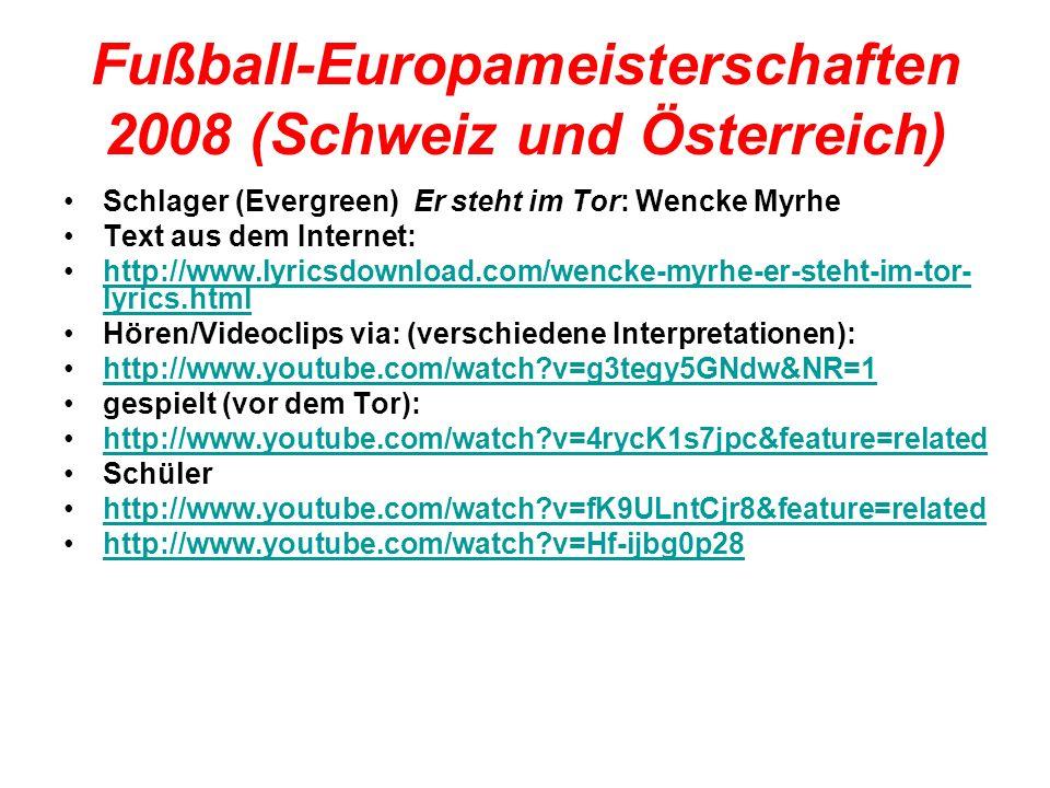 Fußball-Europameisterschaften 2008 (Schweiz und Österreich)