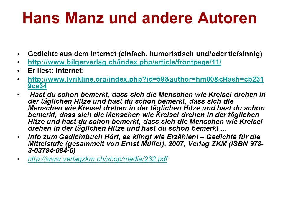 Hans Manz und andere Autoren