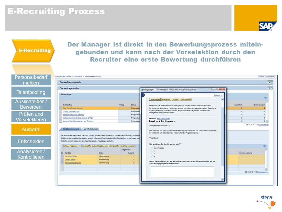 E-Recruiting Prozess E-Recruiting.
