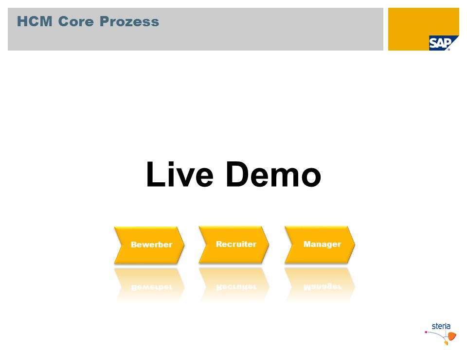 HCM Core Prozess Live Demo Bewerber Recruiter Manager