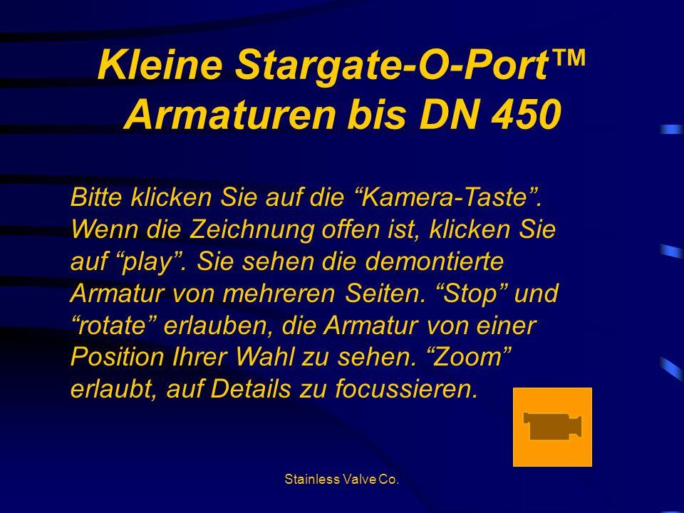 Kleine Stargate-O-Port™ Armaturen bis DN 450
