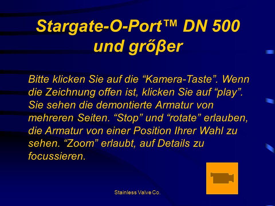 Stargate-O-Port™ DN 500 und grőβer