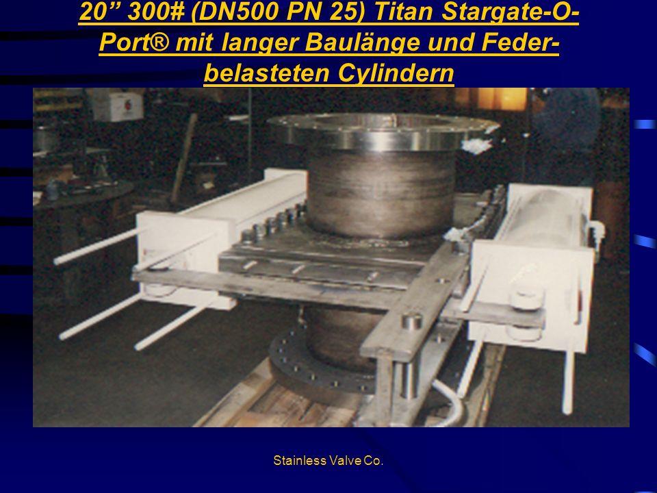20 300# (DN500 PN 25) Titan Stargate-O-Port® mit langer Baulänge und Feder-belasteten Cylindern