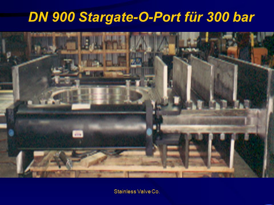 DN 900 Stargate-O-Port für 300 bar