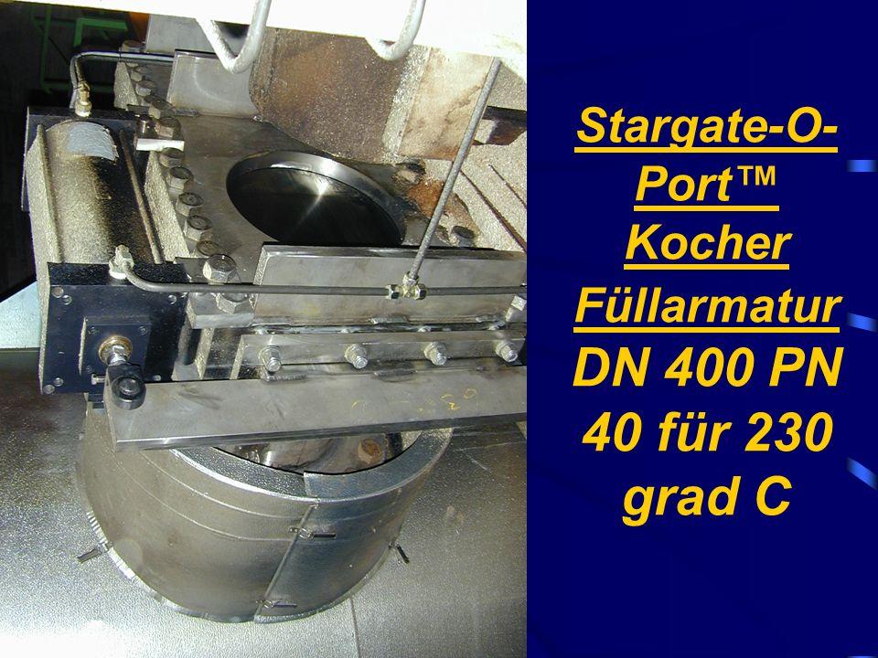 Stargate-O-Port™ Kocher Füllarmatur DN 400 PN 40 für 230 grad C