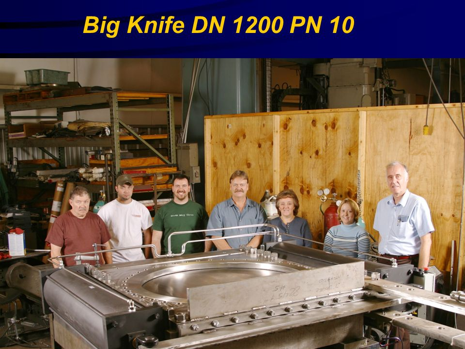 Big Knife DN 1200 PN 10 Stainless Valve Co.