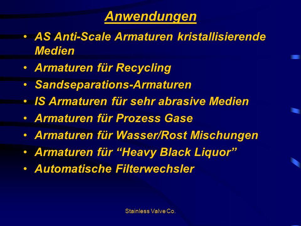 Anwendungen AS Anti-Scale Armaturen kristallisierende Medien