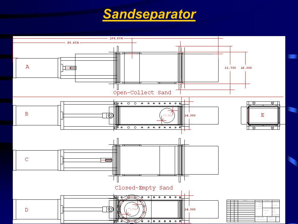 Sandseparator Stainless Valve Co.