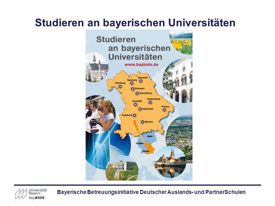 Studieren an bayerischen Universitäten