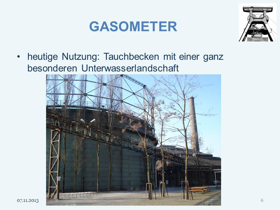 GASOMETER heutige Nutzung: Tauchbecken mit einer ganz besonderen Unterwasserlandschaft 25.03.2017