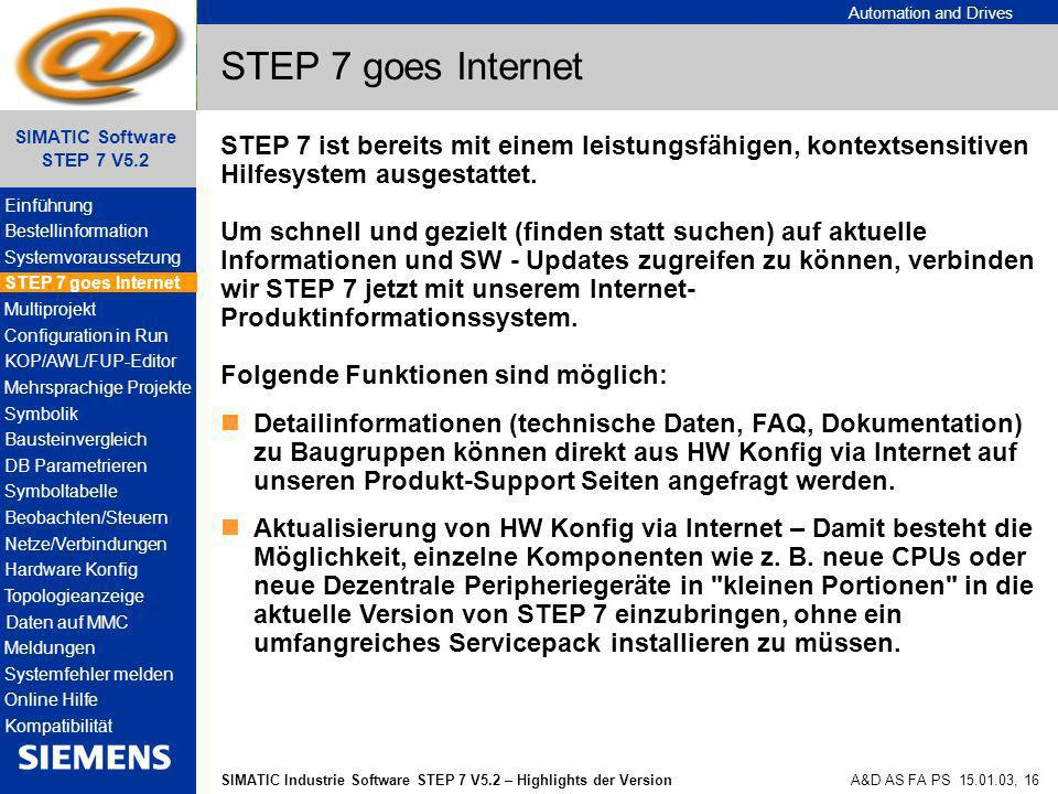 STEP 7 goes Internet