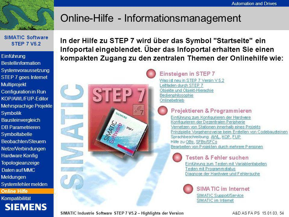 Online-Hilfe - Informationsmanagement