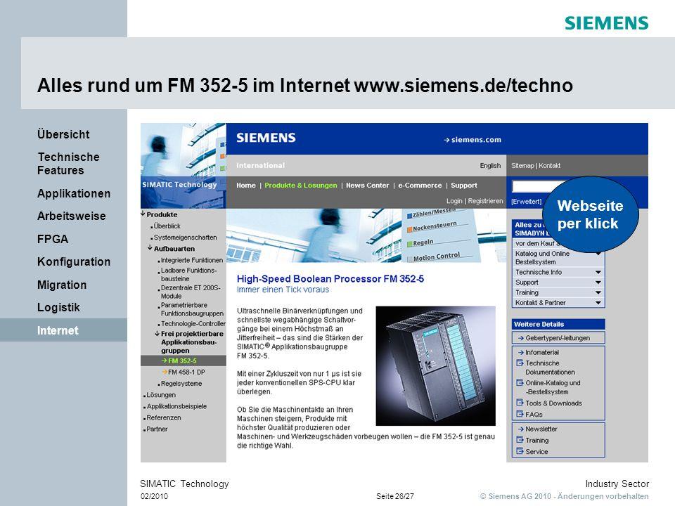 Alles rund um FM 352-5 im Internet www.siemens.de/techno
