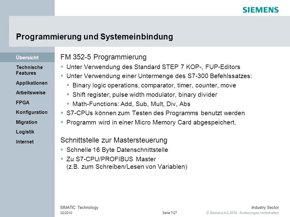 Programmierung und Systemeinbindung