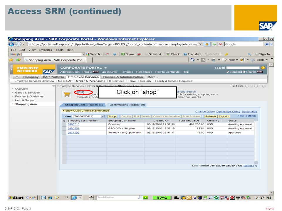 Access SRM (continued)