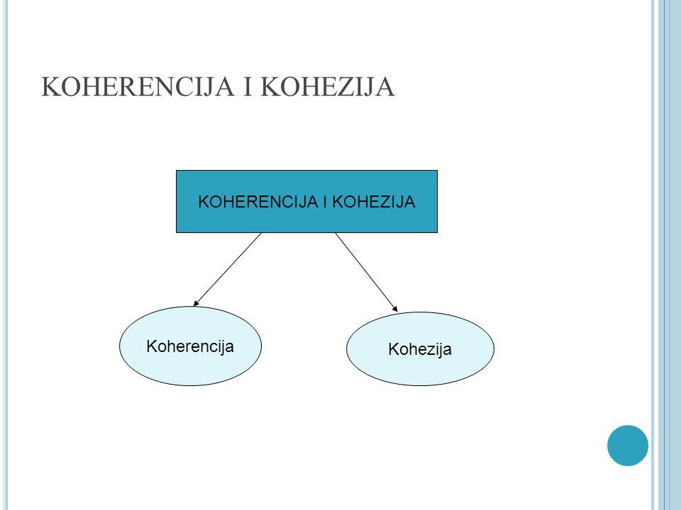 KOHERENCIJA I KOHEZIJA