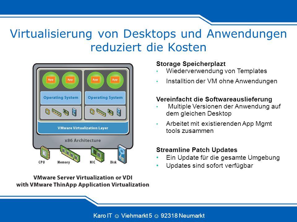 Virtualisierung von Desktops und Anwendungen reduziert die Kosten