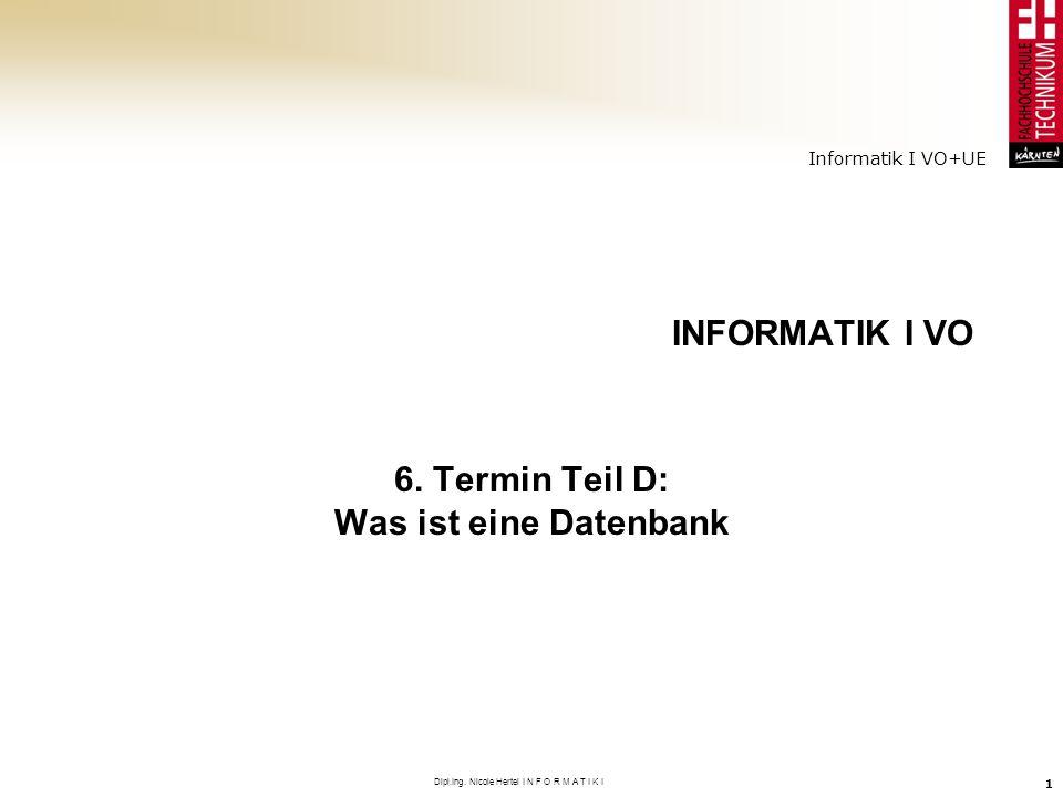 6. Termin Teil D: Was ist eine Datenbank