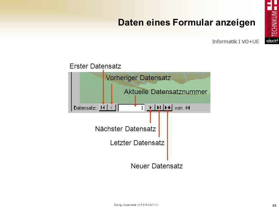 Daten eines Formular anzeigen