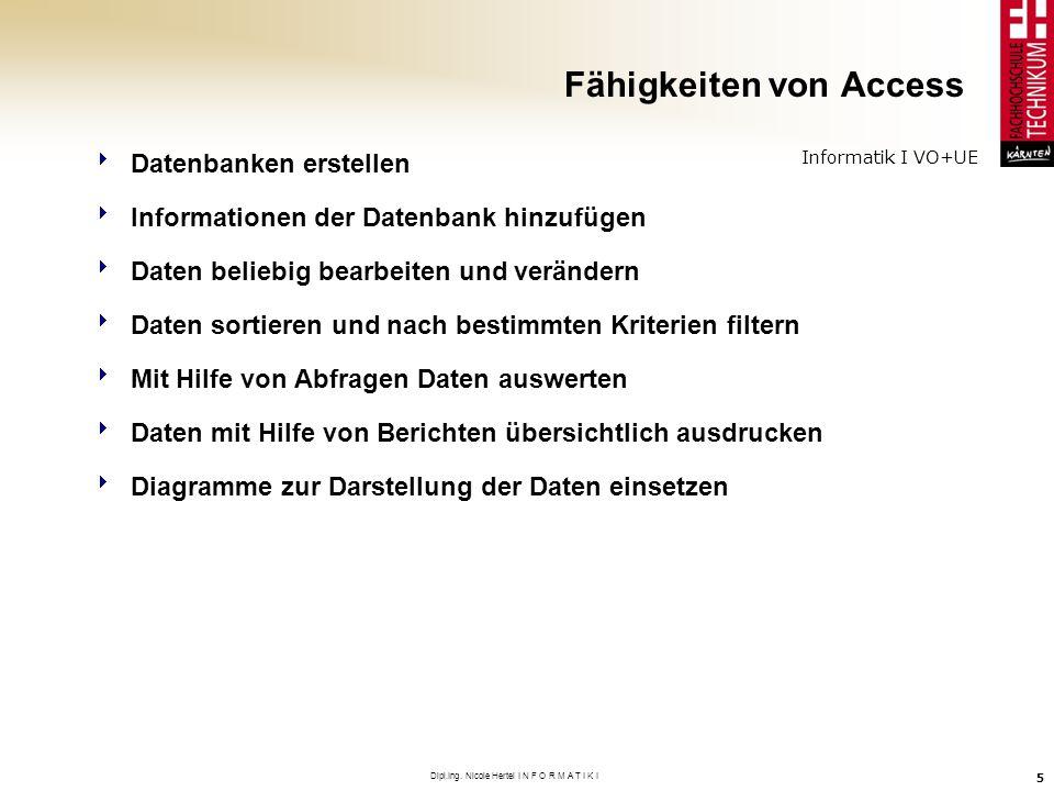 Fähigkeiten von Access