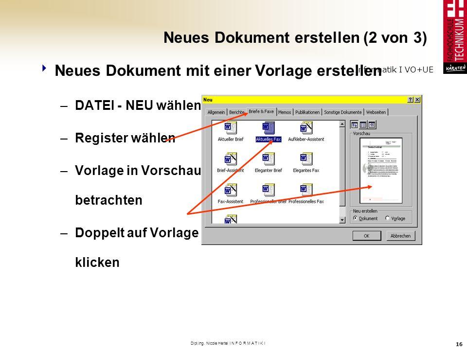 Neues Dokument erstellen (2 von 3)