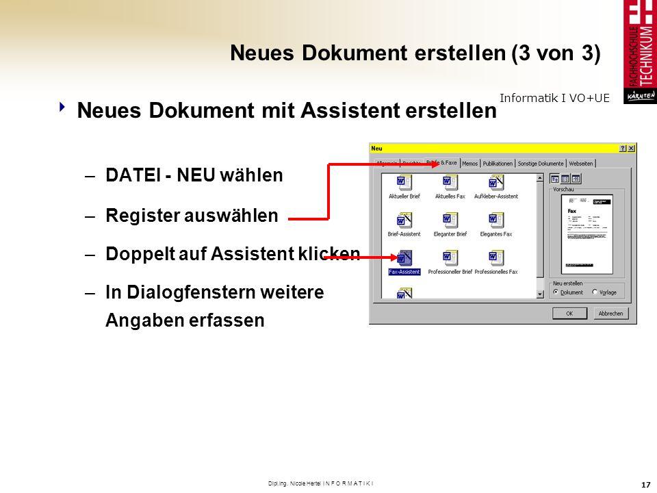 Neues Dokument erstellen (3 von 3)