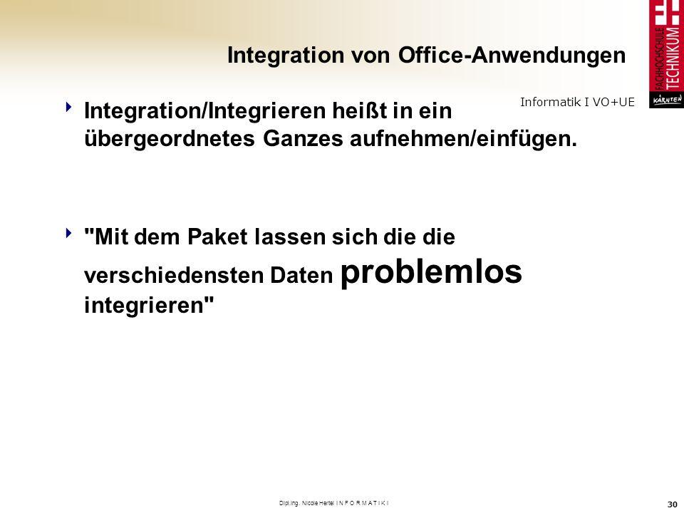 Integration von Office-Anwendungen