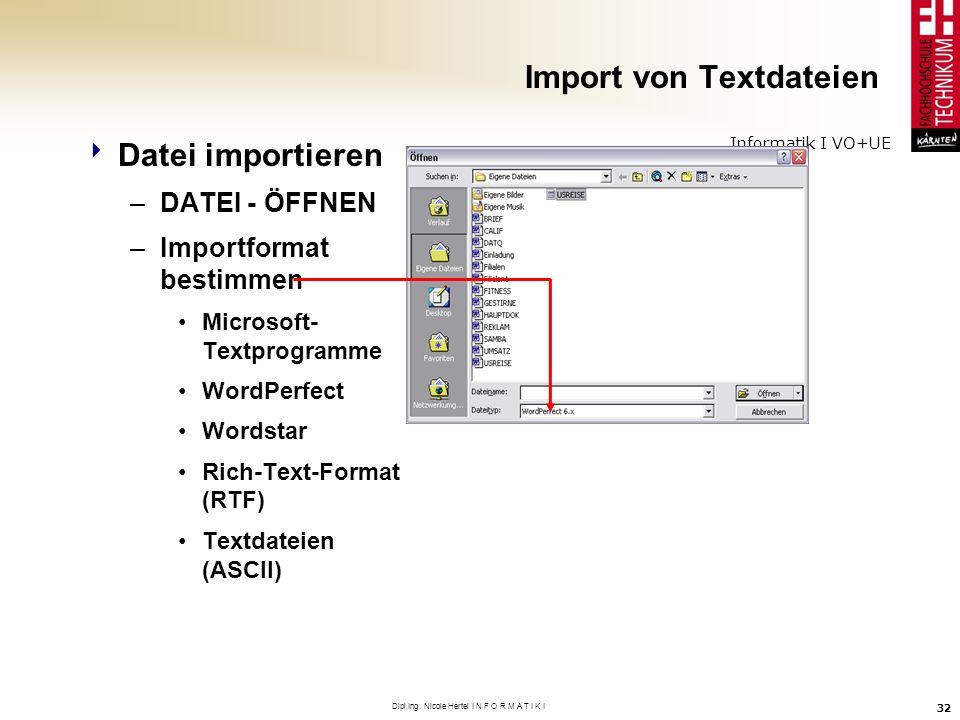 Import von Textdateien