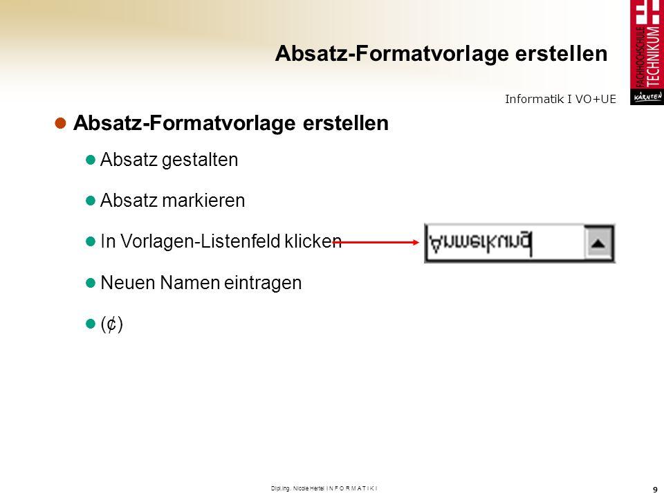 Absatz-Formatvorlage erstellen