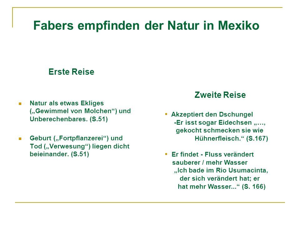 Fabers empfinden der Natur in Mexiko