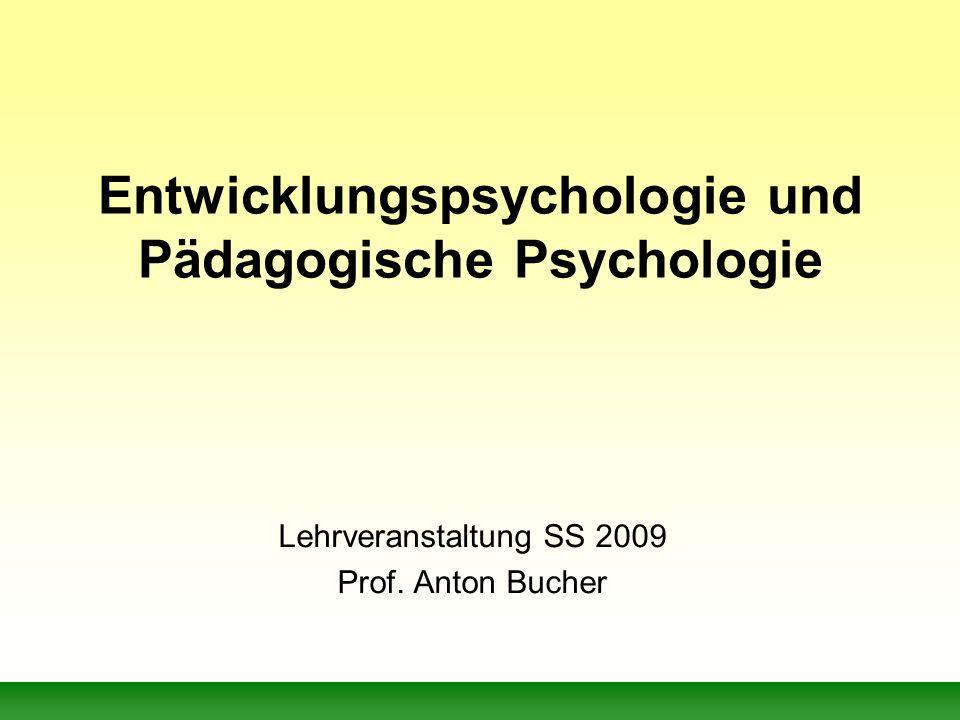 Entwicklungspsychologie und Pädagogische Psychologie