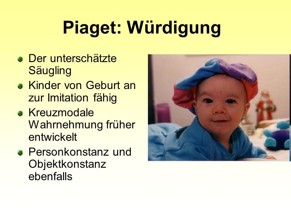 Piaget: Würdigung Der unterschätzte Säugling