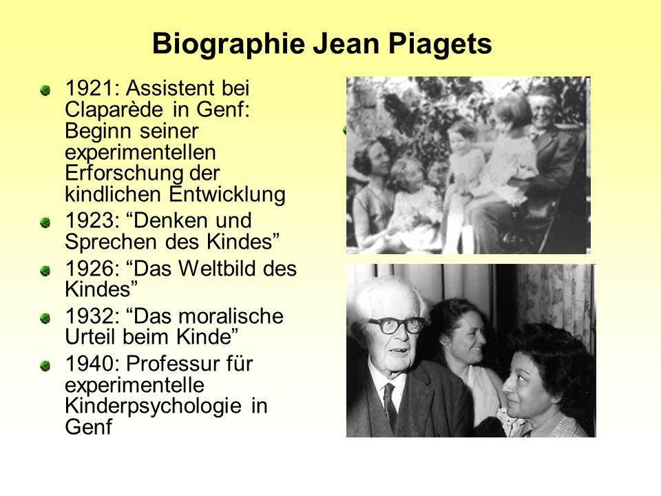 Biographie Jean Piagets