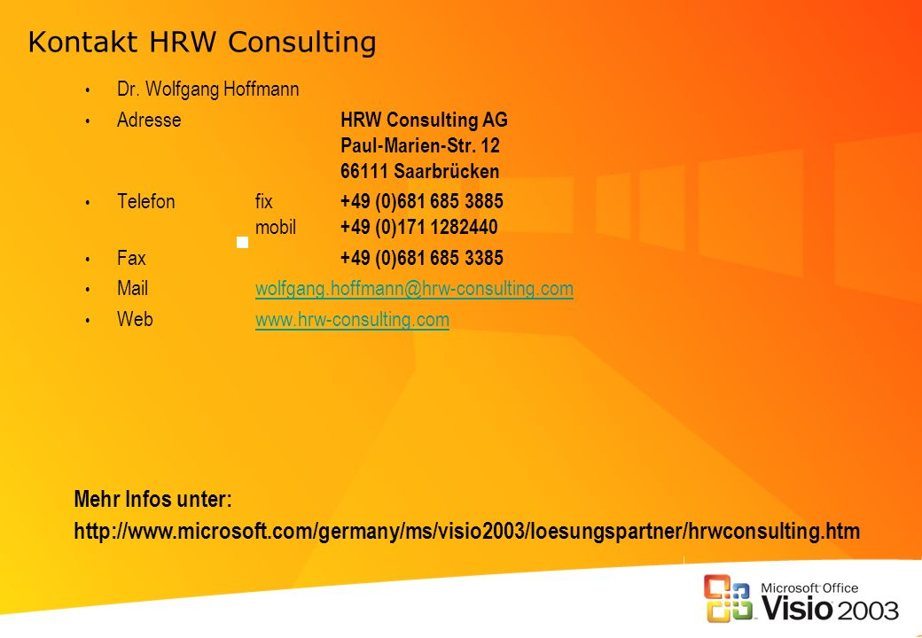Kontakt HRW Consulting