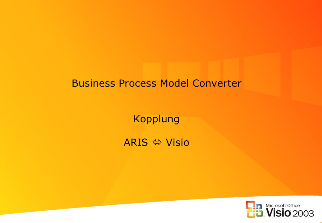 Business Process Model Converter Kopplung ARIS  Visio
