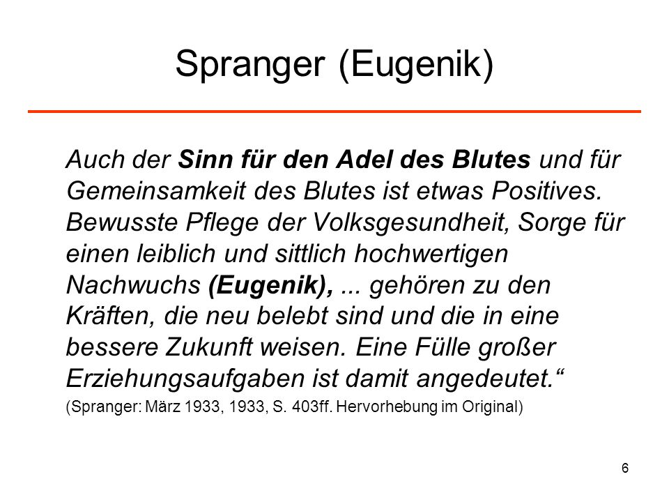 Spranger (Eugenik)