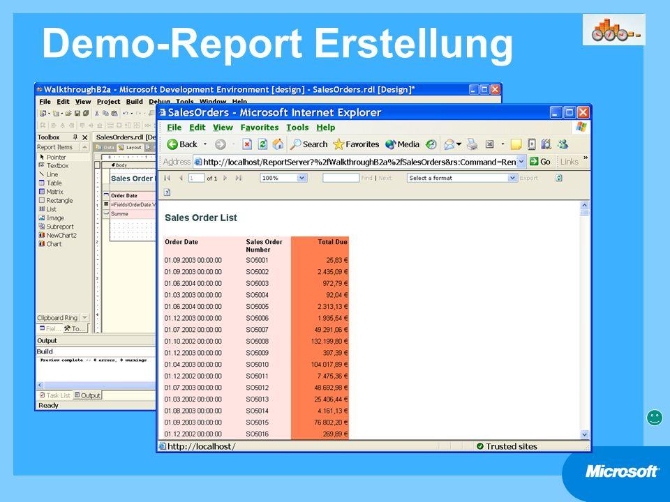Demo-Report Erstellung