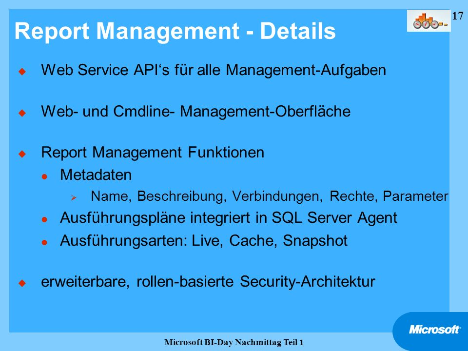 Report Management - Details