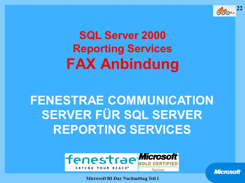 SQL Server 2000 Reporting Services FAX Anbindung